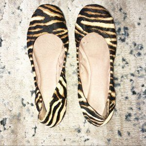 Vince Camuto Animal Print Calf Hair Ballet Flats 6